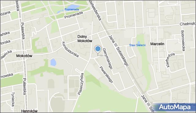 Warszawa, Braci Pillatich, mapa Warszawy
