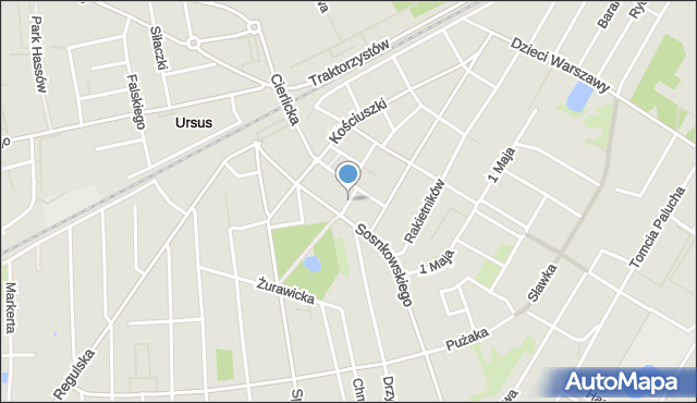 Warszawa, Brzechwy Jana, mapa Warszawy