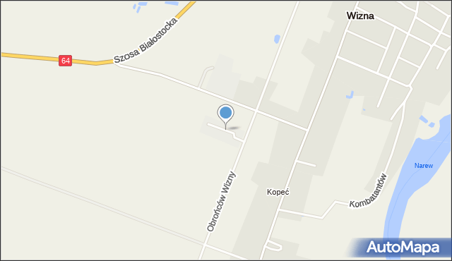 Wizna, Brykalskiego Stanisława, kpt., mapa Wizna