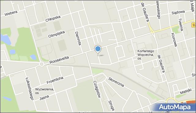 Zabrze, Bracka, mapa Zabrza