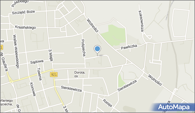 Zabrze, Broniewskiego Władysława, mapa Zabrza