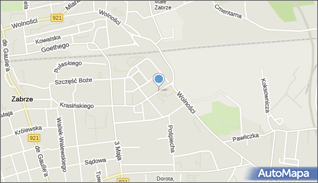 Zabrze, Brysza Wiktora, mapa Zabrza