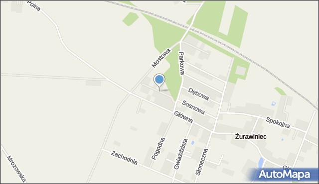 Żurawiniec gmina Miękinia, Brzozowa, mapa Żurawiniec gmina Miękinia