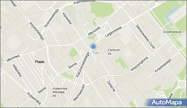 Białystok, Bułgarska, mapa Białegostoku