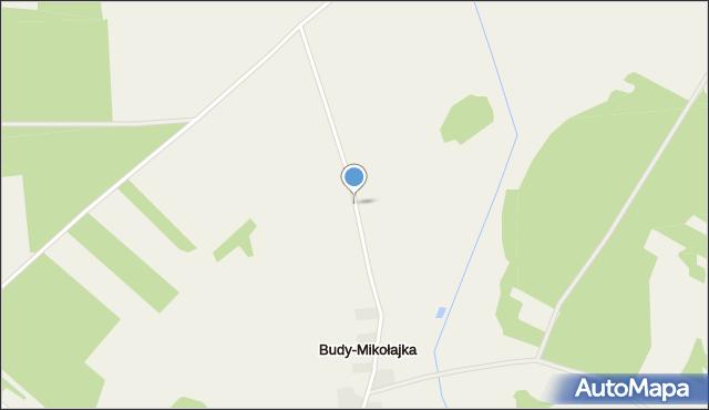 Budy-Mikołajka, Budy-Mikołajka, mapa Budy-Mikołajka