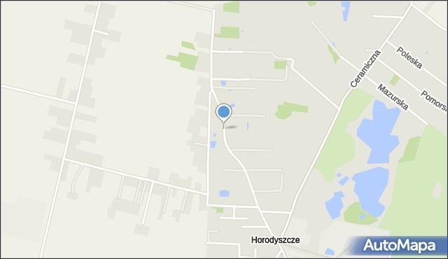 Chełm, Budowlana, mapa Chełma