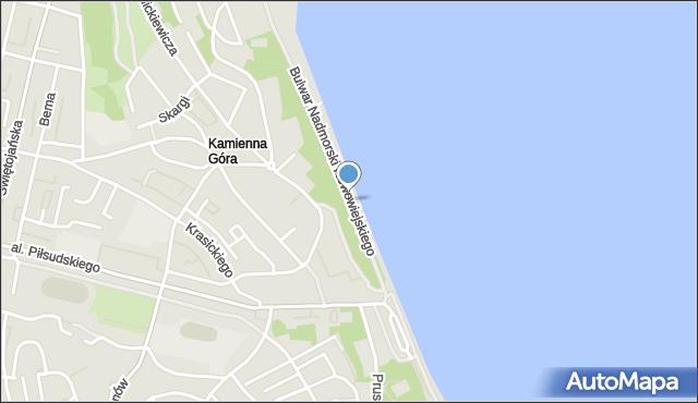Gdynia, Bulwar Nadmorski Feliksa Nowowiejskiego, mapa Gdyni