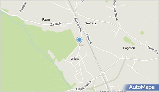 Jaworzno, Budowlana, mapa Jaworzno