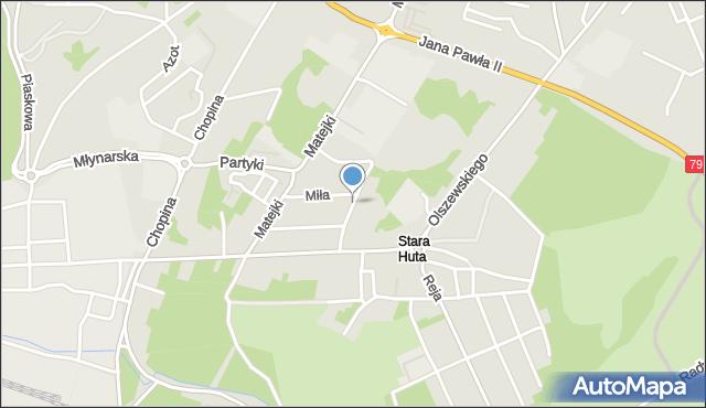 Jaworzno, Budryka Witolda, mapa Jaworzno