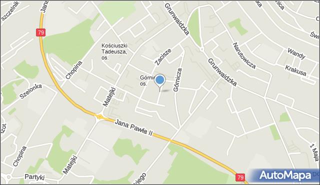 Jaworzno, Bulgi Edwarda, mapa Jaworzno