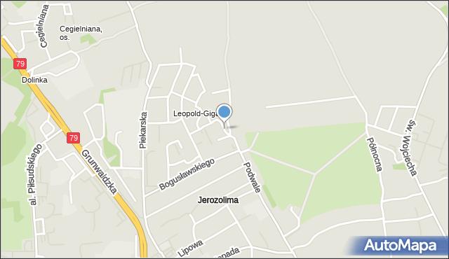 Jaworzno, Bursztynowa, mapa Jaworzno