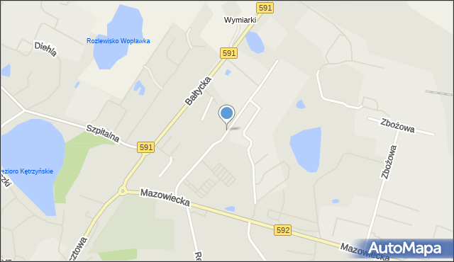 Kętrzyn, Budowlana, mapa Kętrzyn