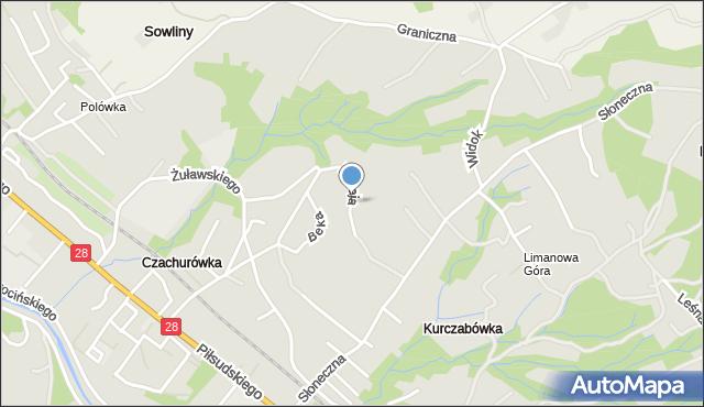 Limanowa, Bugaja Józefa, dr., mapa Limanowa