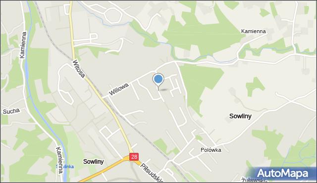 Limanowa, Bujaka Franciszka, mapa Limanowa