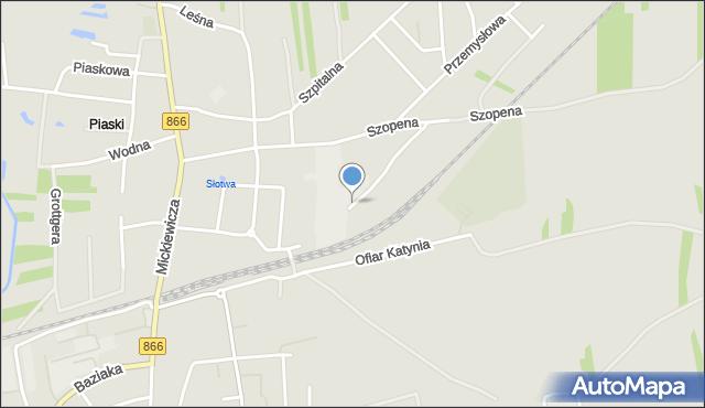 Lubaczów, Budowlanych, mapa Lubaczów