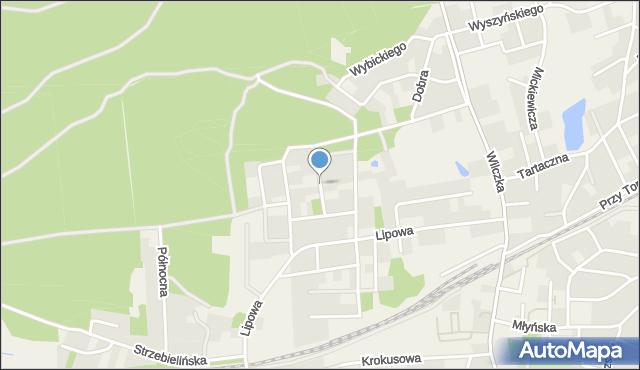 Luzino, Bukowa, mapa Luzino