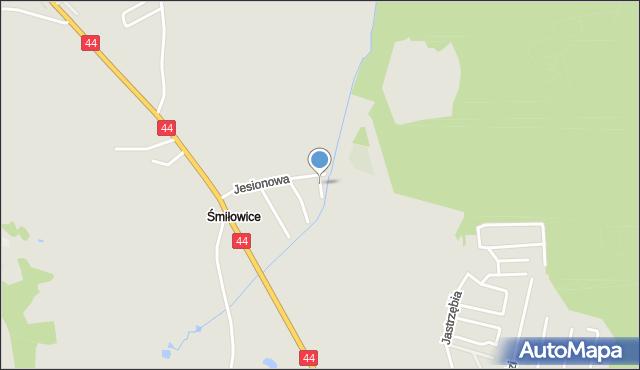 Mikołów, Bukowa, mapa Mikołów