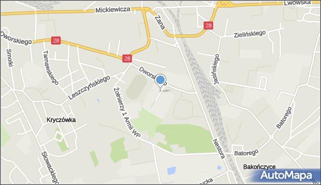 Przemyśl, Bujaka Franciszka, mapa Przemyśla