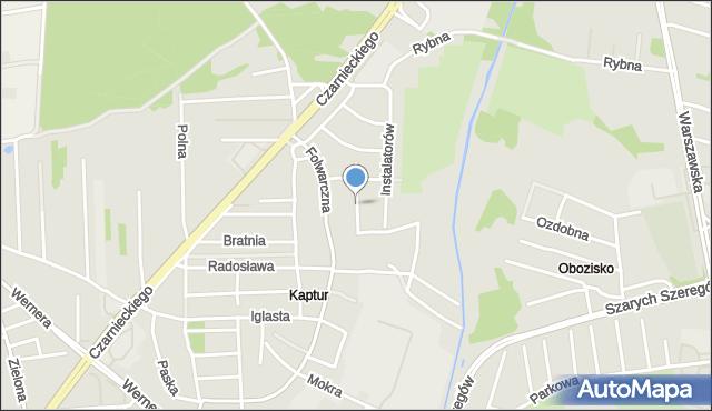 Radom, Budowlanych, mapa Radomia