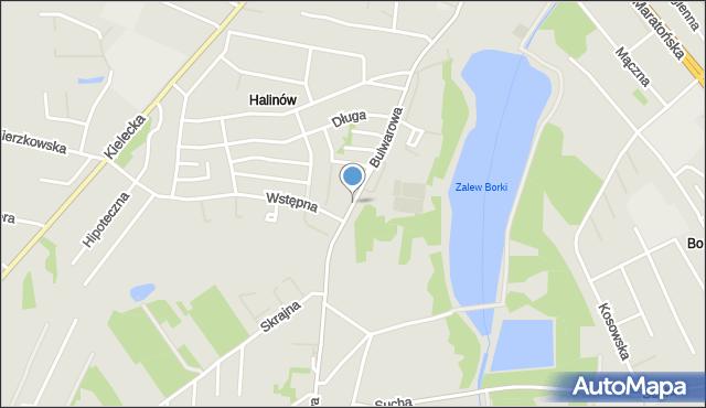 Radom, Bulwarowa, mapa Radomia