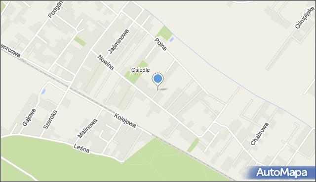 Robakowo gmina Kórnik, Bukowa, mapa Robakowo gmina Kórnik