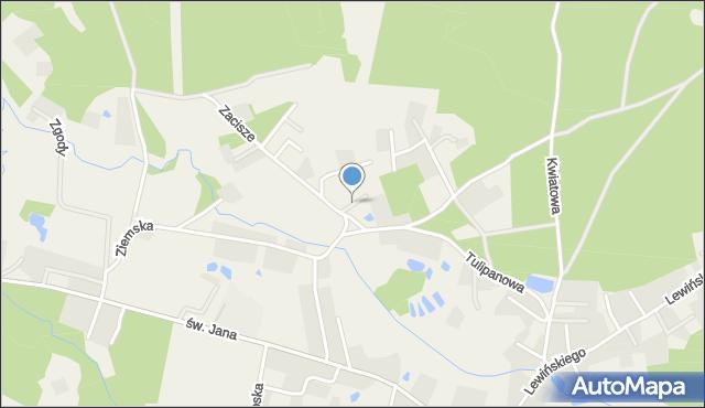 Robakowo gmina Luzino, Bukowa, mapa Robakowo gmina Luzino