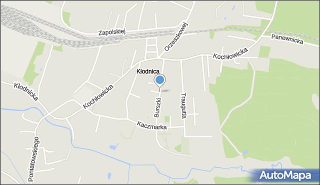Ruda Śląska, Burszki, mapa Rudy Śląskiej