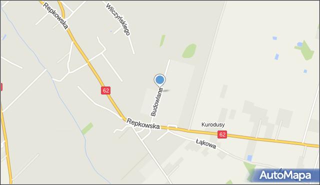 Sokołów Podlaski, Budowlana, mapa Sokołów Podlaski