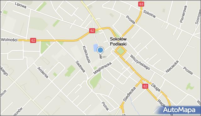 Sokołów Podlaski, Bulwar, mapa Sokołów Podlaski