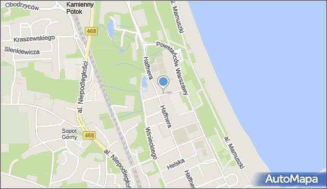 Sopot, Budzysza Wosia, mapa Sopotu