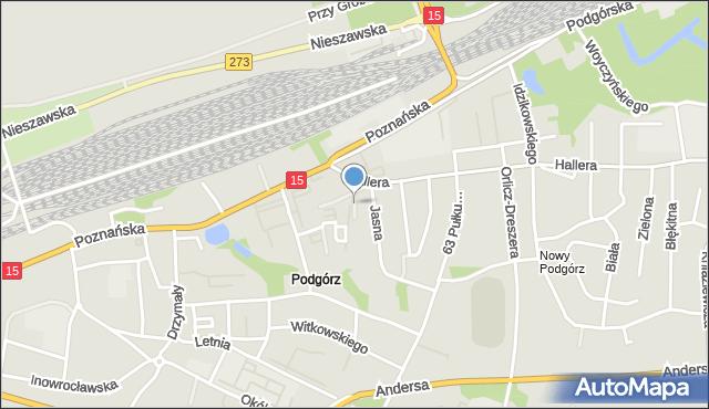 Toruń, Burhardta Stefana, mapa Torunia
