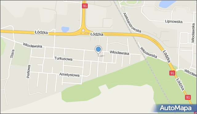 Toruń, Bursztynowa, mapa Torunia