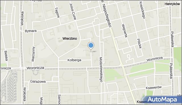 Warszawa, Bukietowa, mapa Warszawy