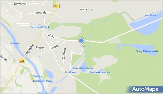 Zabrze, Bujoczka Franciszka, mapa Zabrza