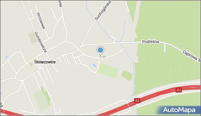 Bytom, Bytomska, mapa Bytomia