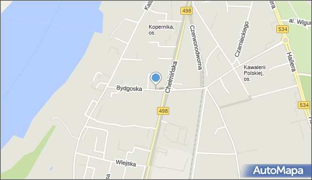 Grudziądz, Bydgoska, mapa Grudziądza