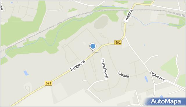 Kętrzyn, Bydgoska, mapa Kętrzyn