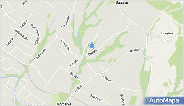 Limanowa, Bystra, mapa Limanowa
