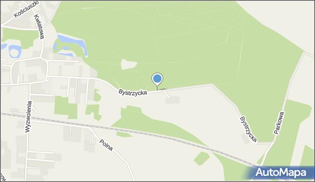 Mrozów, Bystrzycka, mapa Mrozów
