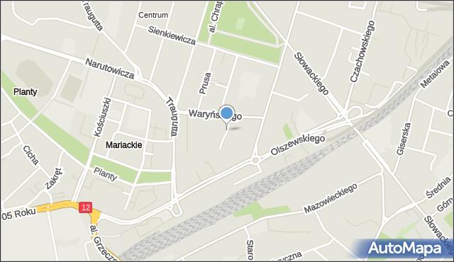 Radom, Bydgoska, mapa Radomia