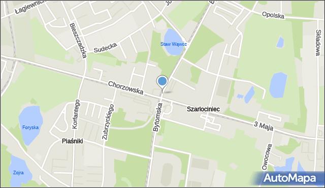 Świętochłowice, Bytomska, mapa Świętochłowice