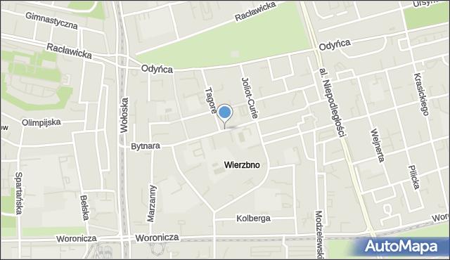 Warszawa, Bytnara Rudego Jana, mapa Warszawy