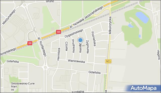 Zabrze, Bydgoska, mapa Zabrza