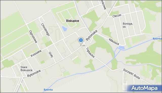 Zabrze, Bytomska, mapa Zabrza