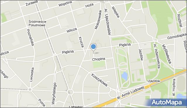 Warszawa, Călinescu Armanda, mapa Warszawy