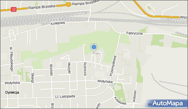 Chełm, Cementowa, mapa Chełma