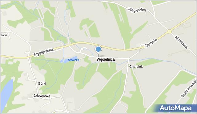 Dobczyce, Cegielniana, mapa Dobczyce