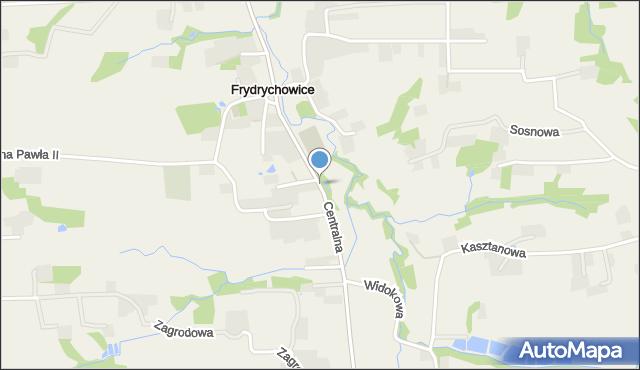 Frydrychowice, Centralna, mapa Frydrychowice