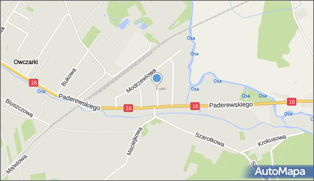 Grudziądz, Cedrowa, mapa Grudziądza