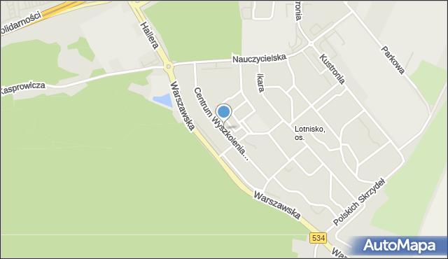 Grudziądz, Centrum Wyszkolenia Kawalerii, mapa Grudziądza